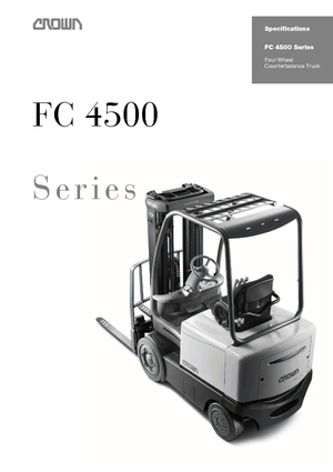 Carrelli elevatori frontali elettrici Crown FC 4525 2.0