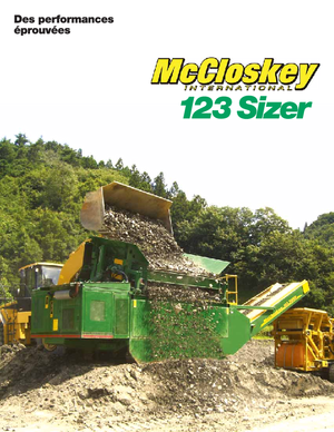 Impianti mobili di setacciatura McCloskey 123 Sizer