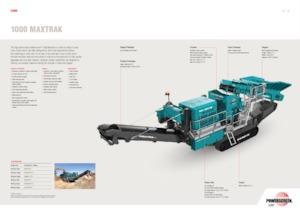 Impianti di riciclaggio calcinacci Powerscreen 1000 Maxtrak