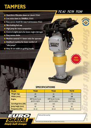 Vibrocostipatori con motore a benzina a 4 tempi Shatal TC 60